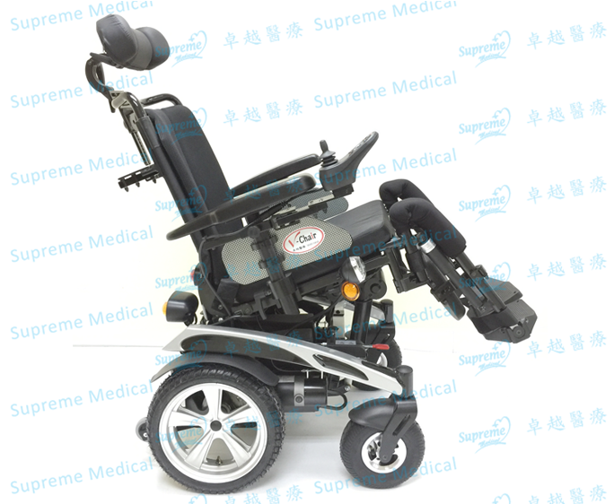 Aluminum Tilt and Recline Power Wheelchair